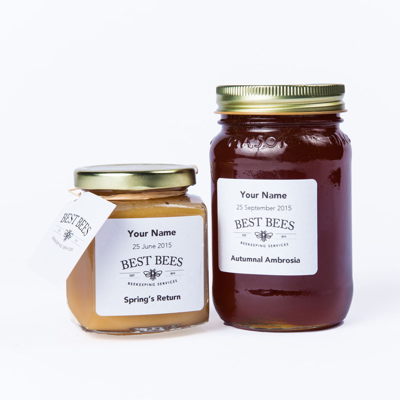 Custom Label Honey Jars - Best Bees